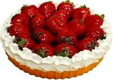 Strawberry Fake Fruit Tart 8 inch