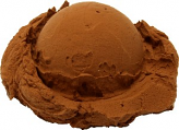 Chocolate Single Scoop Fake Ice Cream NO CONE
