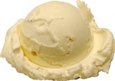 Vanilla Single Scoop Fake Ice Cream NO CONE