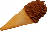 Chocolate Swirl Fake Ice Cream Waffle Cone