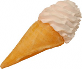 Vanilla Swirl Fake Ice Cream Waffle Cone