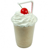 Chocolate Fake Food Milkshake Plastic Cup