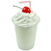 Vanilla Fake Food Milkshake Plastic Cup