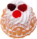 Small Vanilla Bundt Cake Raspberry Fake Dessert