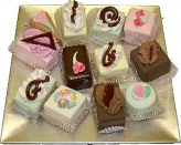 Mini Fakey Cakes Mix 12 pack Petit Fours Tray USA