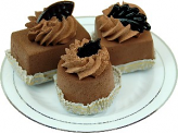 Mini Fakey Designer Chocolate Cakes 3 pack Petit Fours Plate