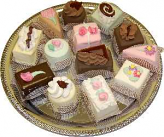 Dessert Tray 13 piece Fake Deserts Assortment