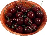 Cherry 24 piece in Bowl fake fruit