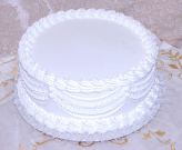 Wedding Fake Cake White with Lace 12 Inch