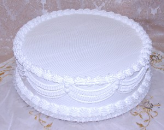 Wedding Fake Cake with Lace White 20 Inch