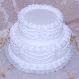 Wedding Fake Cake White Two Tier Stacked 12 Inch