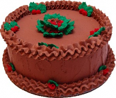 "9"" Christmas Holly Chocolate Fake Cake"