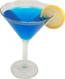 Blue Martini Glass fake drinks USA