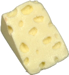 Swiss Wedge Fake Cheese