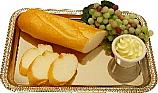 Bread Sliced and Grapes with Metal Rectangle Tray Fake Food U.S.A.