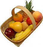Fake Fruit 12 piece with Basket