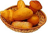 Bread Basket 6 Piece Fake Bread