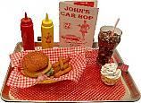 Car Hop fake food Large Tray Chicken or Fish