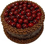 Cherry Top Chocolate Fake Cake 9 inch