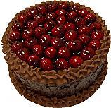 Cherry Top Chocolate Fake Cake 9 inch