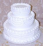 Wedding Fake Cake White Three Tier Stacked 16 Inch