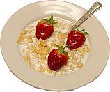 Corn Flakes Fake Cereal Bowl USA