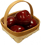Red Apple 5 piece with Basket
