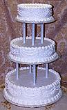 Wedding Fake Cake White Three Tier 20 inch