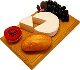 Brie with Slice Fake Cheese Combo on Wood Board USA