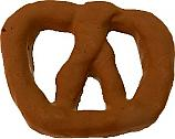 Pretzel Fake Food Large 6 inch Chocolate Dipped