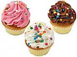 Fake Cupcakes 3 Pack Sprinkle Cupcake USA