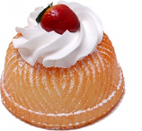 Small Vanilla Bundt Cake Strawberry Fake Dessert