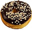 Large Chocolate with Nuts Fake Doughnut Soft Touch