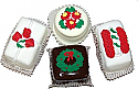 Mini Christmas Fakey Cakes 4 pack Petit Fours USA