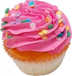 Strawberry Sprinkle Fake Cupcake