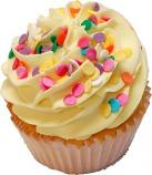 Yellow Sprinkle Fake Cupcake