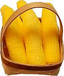 Whole Fake Corn 6 piece with basket fake Vegetable USA