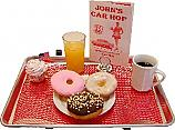 Car Hop Fake Food Donuts Breakfast Tray