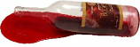 Red Wine Bottle Spill fake drink USA
