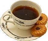 Tea Cup and Saucer with cookies fake drink USA
