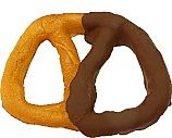 Pretzel Fake Food Large 6 inch Half Dipped Chocolate