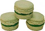 Green Tea Fake Macarons (Macaroon) with Cream 3 Pack U.S.A.