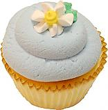 Pale blue daisy fake cupcake USA