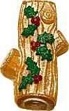 Yule Log Vanilla fake cake Decorated USA