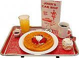 Car Hop Fake Food Tray Waffle