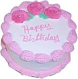Pink Birthday fake cake 9 inch USA